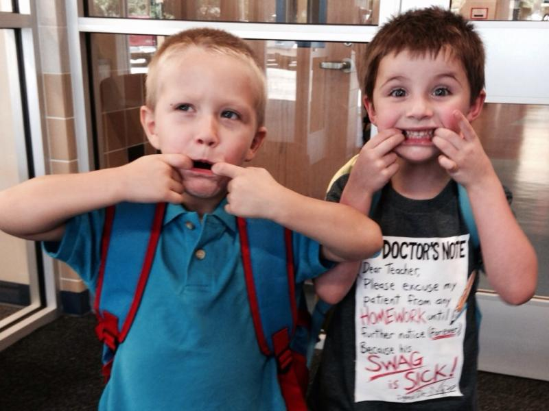 Four-year-olds express how they feel about the first day of school in Fort Worth.