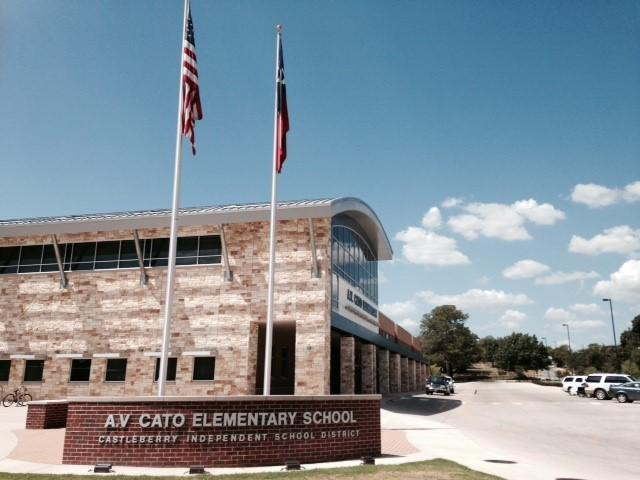 A beautiful first day at A.V. Cato Elementary School in Fort Worth.