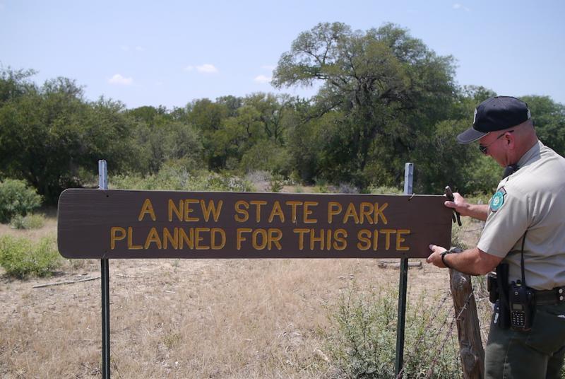 John Ferguson is steward of Texas' newest state park, Palo Pinto Mountains State Park near Strawn, Texas.