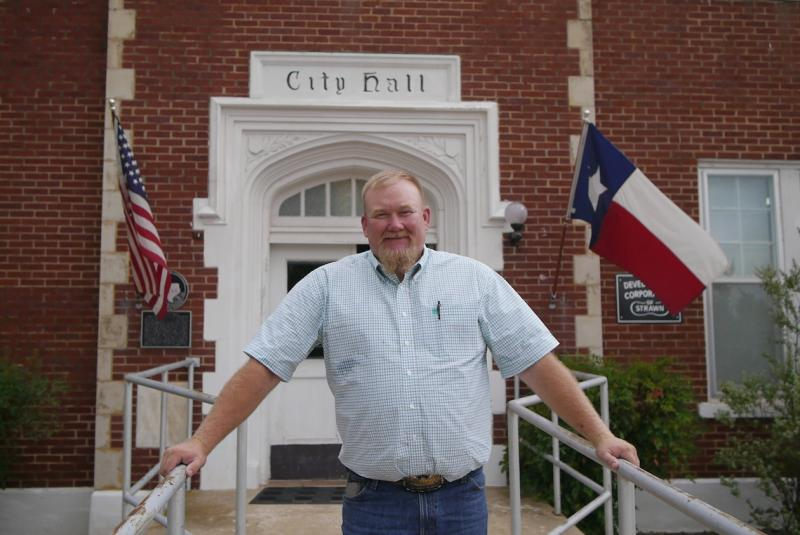 Tye Jackson is mayor of the city of Strawn, and supports the new state park, just two miles from his city.