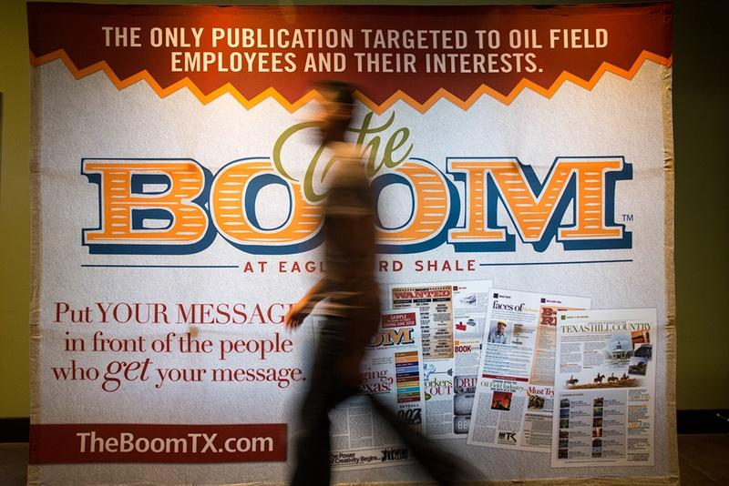 A newspaper called The Boom caters to oil workers in South Texas.