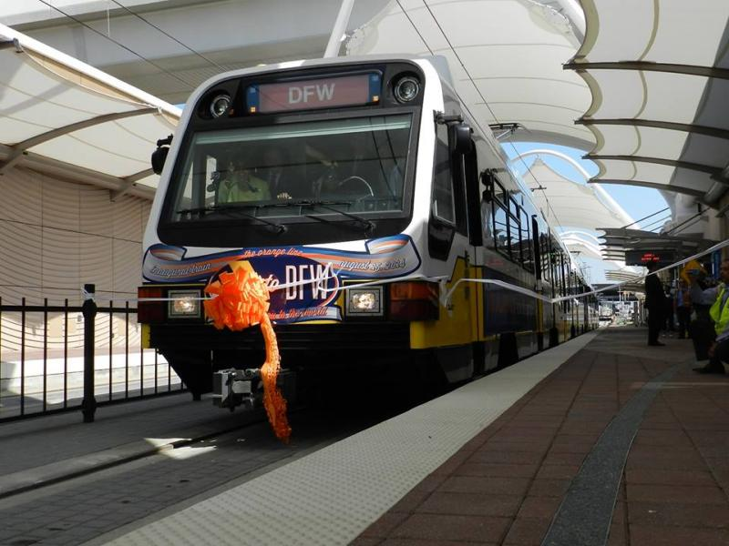 DART's Orange Line will stop at a station near the front door of DFW's Terminal A.
