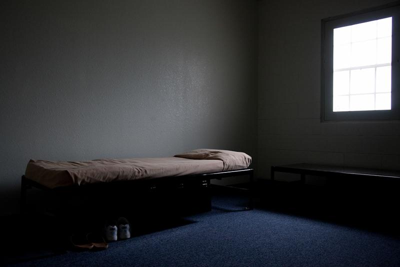 An empty cell at a state juvenile correctional facility.