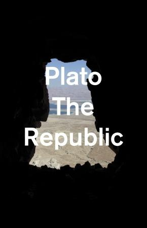 Mendelsund's simple and out of the ordinary designs, like this one for Plato's <em>The Republic</em> are to get readers to rethink the novels in a new light.