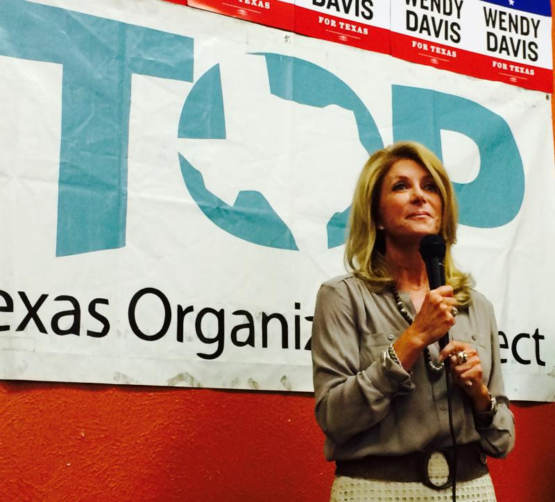 Wendy Davis, the Democratic candidate for governor, speaks to supporters of the Texas Organizing Project Sunday at a get-out-the vote rally.