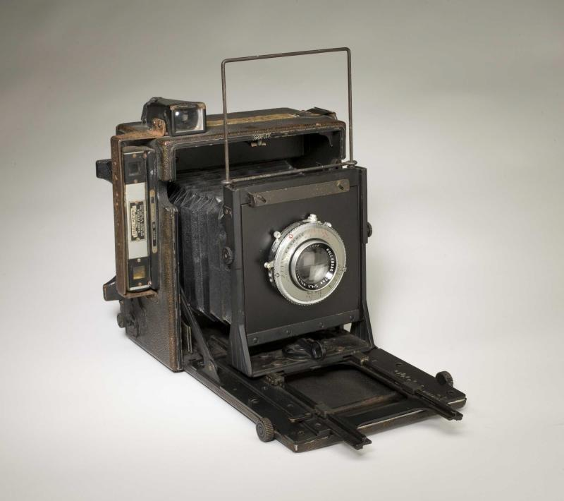 "The Graflex Anniversary Speed Graphic (4 x 5), ""Scott S. Wigle camera"" from 1940 produced the first American-made D-Day picture."