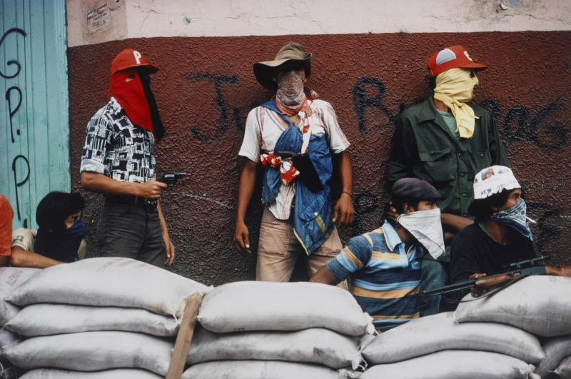 In 1978, Susan Meiselas captured this photo of muchachos awaiting a counter attack by the National Guard in Matagalpa, Nicaragua.