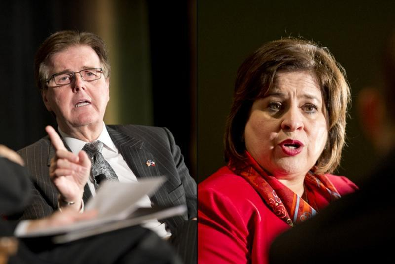 Dan Patrick and Leticia Van de Putte took the stage together in Austin for their only debate in the race to be the next lieutenant governor.