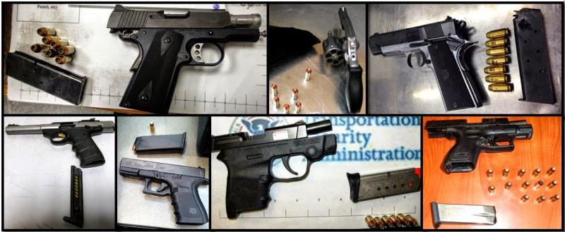 Here are some of the guns discovered at airports across the country in recent days.