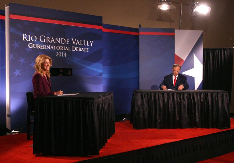 Republican Greg Abbott and Democrat Wendy Davis faced off in their first governor's debate Friday night in the Rio Grande Valley.