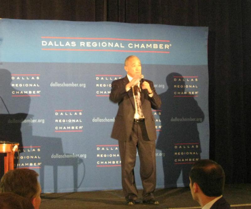 Dallas ISD Superintendent Mike Miles delivered an upbeat state of the school district speech in front of several hundred Dallas Chamber of Commerce members.