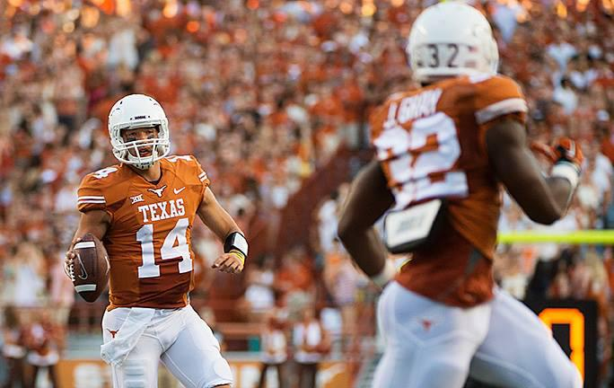 UT quarterback David Ash, left, is leaving football following at least one concussion.