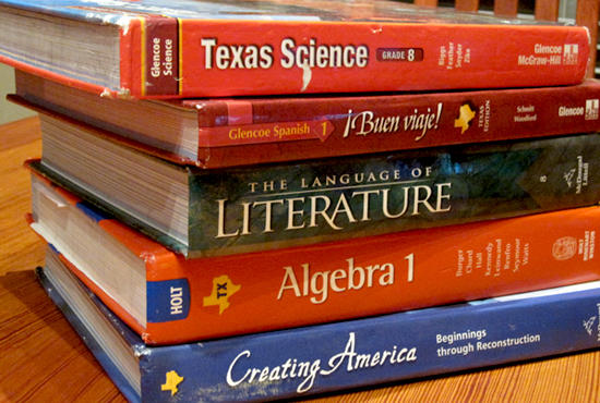 The Texas State Board of Education will have more than 100 textbooks to consider.