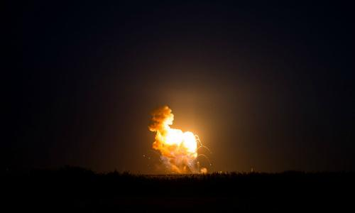 Orbital's Antares rocket crashed seconds after liftoff Tuesday night.