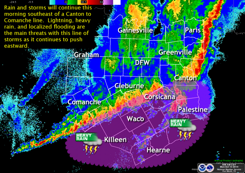 A look at the storms that rolled through North Texas overnight.