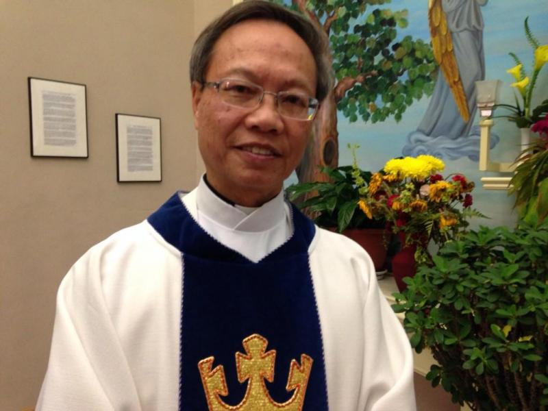 On Monday night, friends of Nina Pham, the nurse wih Ebola, prayed for her at Our Lady of Fatima Catholic Church in Fort Worth. Rev. Jim Khoi said he hopes she can be healed.