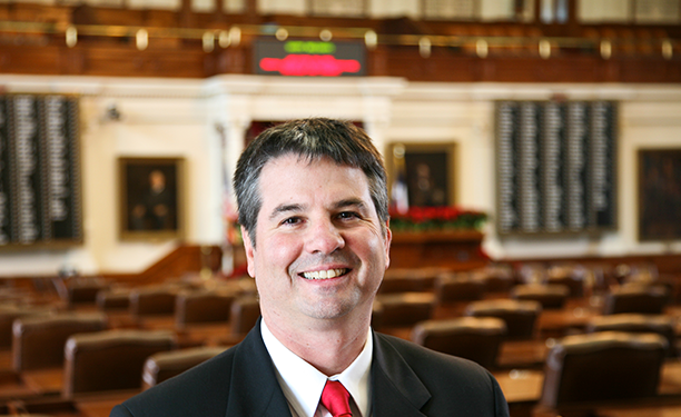 Charles Perry was previously a state representative from Lubbock before being sworn in as a state senator yesterday.