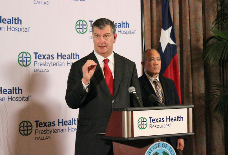 Dallas Mayor Mike Rawlings, pictured last fall, easily won re-election Saturday night.