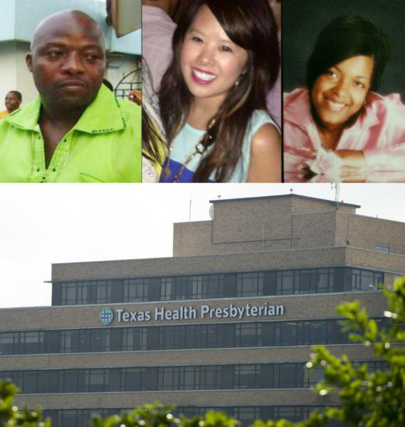 Thomas Eric Duncan (L), Nina Pham (C) and Amber Joy Vinson (R). Duncan was the first person diagnosed with the Ebola virus in the U.S. He died Oct. 8. Pham and Vinson, both Presbyterian healthcare workers, were also infected with the virus.