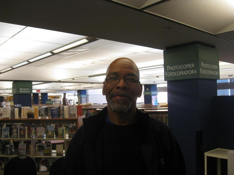 Kevin Franklin, who's 57 and homeless, says it's never too late to take and pass the GED. He's enrolled now, and plans to the take the test in the library's new testing center