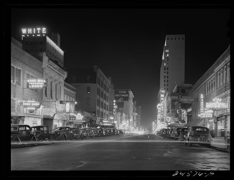 Downtown Dallas in January 1942.