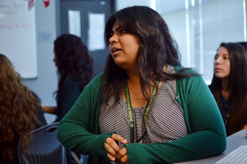 Margaret Gutierrez,  a senior at Dubiski Career High school in Grand Prairie, talks about being bullied.