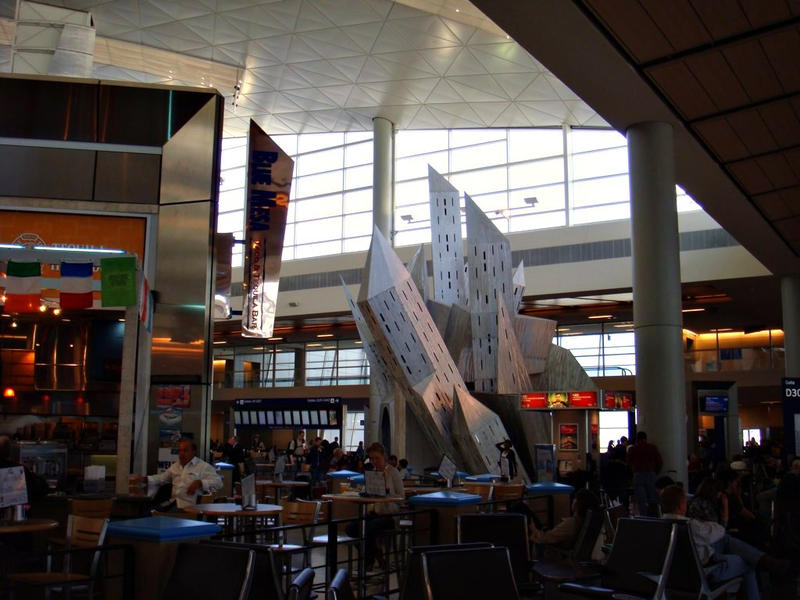 Thrillist says Dallas/Fort Worth International has lots of great restaurants. (It has great sculptures, too.)