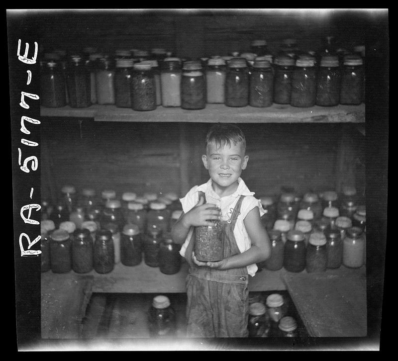A boy in Kaufman County in 1936.