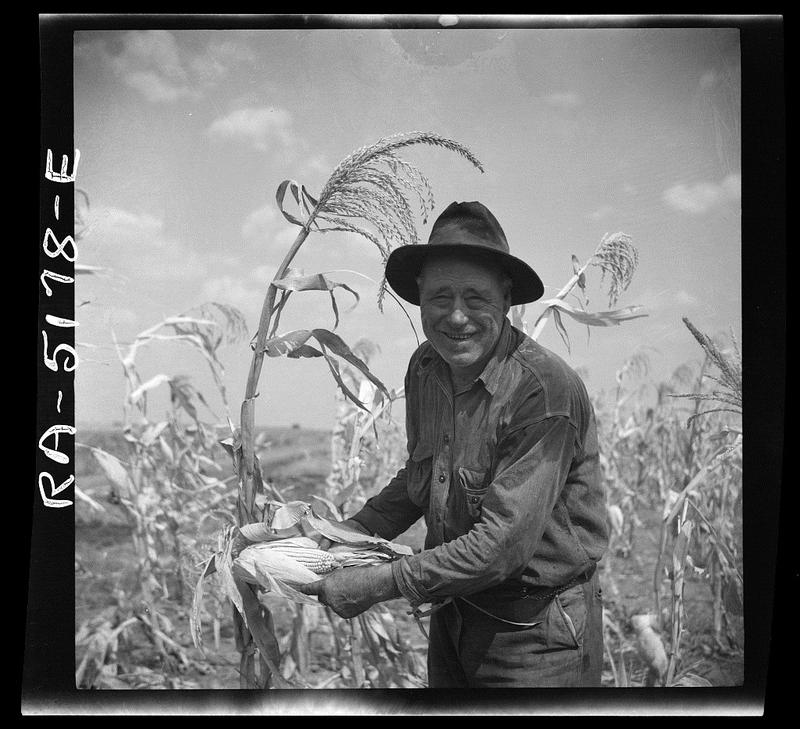 This farmer grew corn in Kaufman County in 1936.