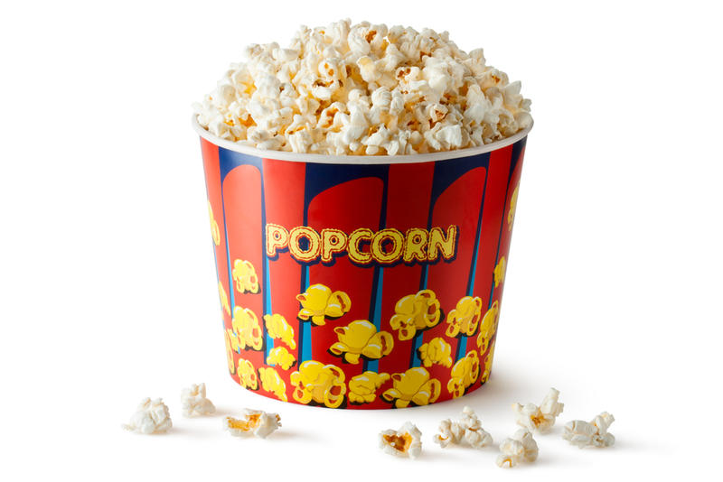 Today: Bucket of popcorn, butter and salt, 11 cups. 630 calories.