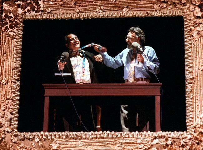 Tom (pictured right) and Ray Magliozzi performing at McFarlin Auditorium in November of 1995.