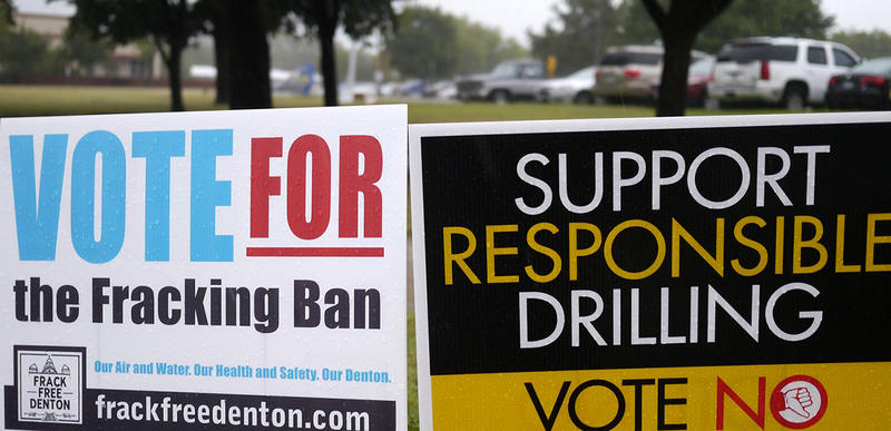 Denton voters approved an ordinance to ban hydraulic fracturing within city limits last year.
