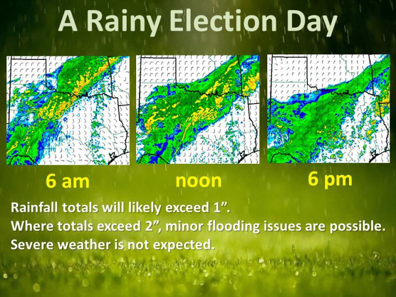 Rain is expected to fall across North Texas throughout the day Tuesday.