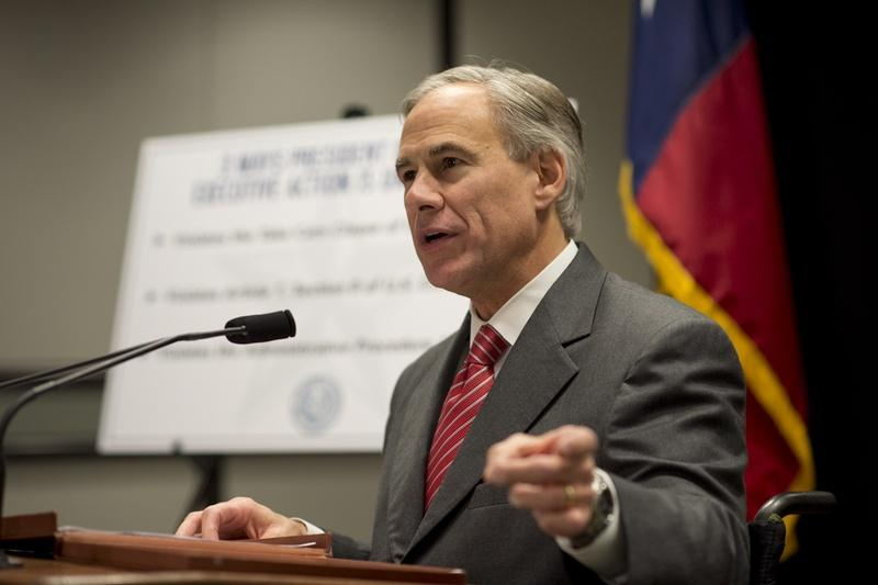 Attorney General Greg Abbott indicated his willingness to sue President Obama on immigration during a press conference in November.