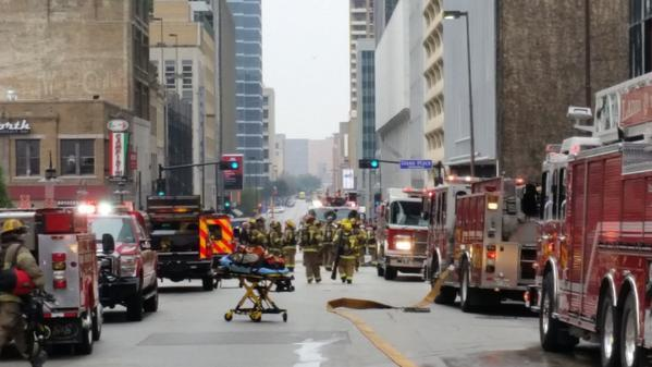Three workers died in a fire at the Thanksgiving Tower in downtown Dallas Thursday afternoon, Dallas Fire-Rescue says.