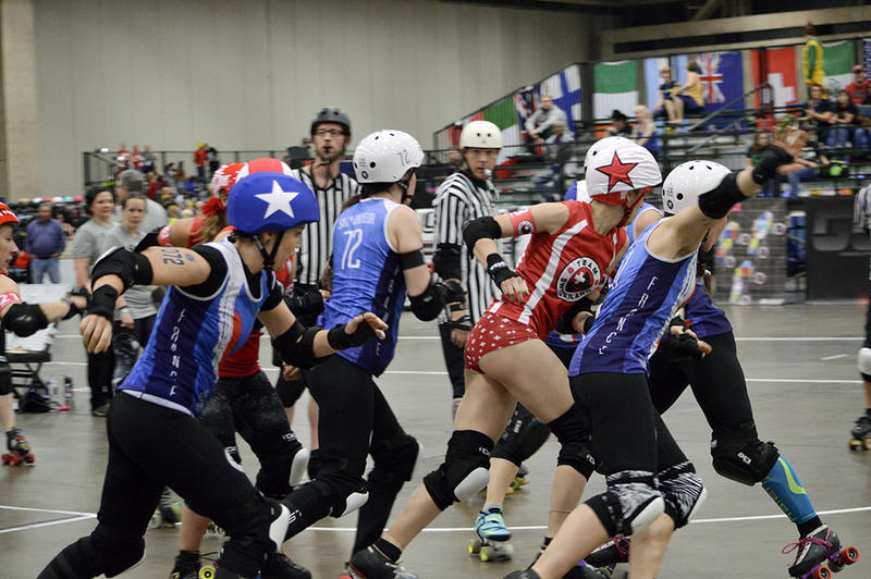Jammers play with stars on their helmets to differentiate them from blockers.