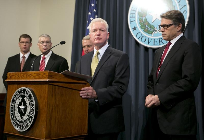 Dr. Brett Giroir, director of the Texas Task Force on Infectious Disease Preparedness and Response, during a press conference in Austin in October.