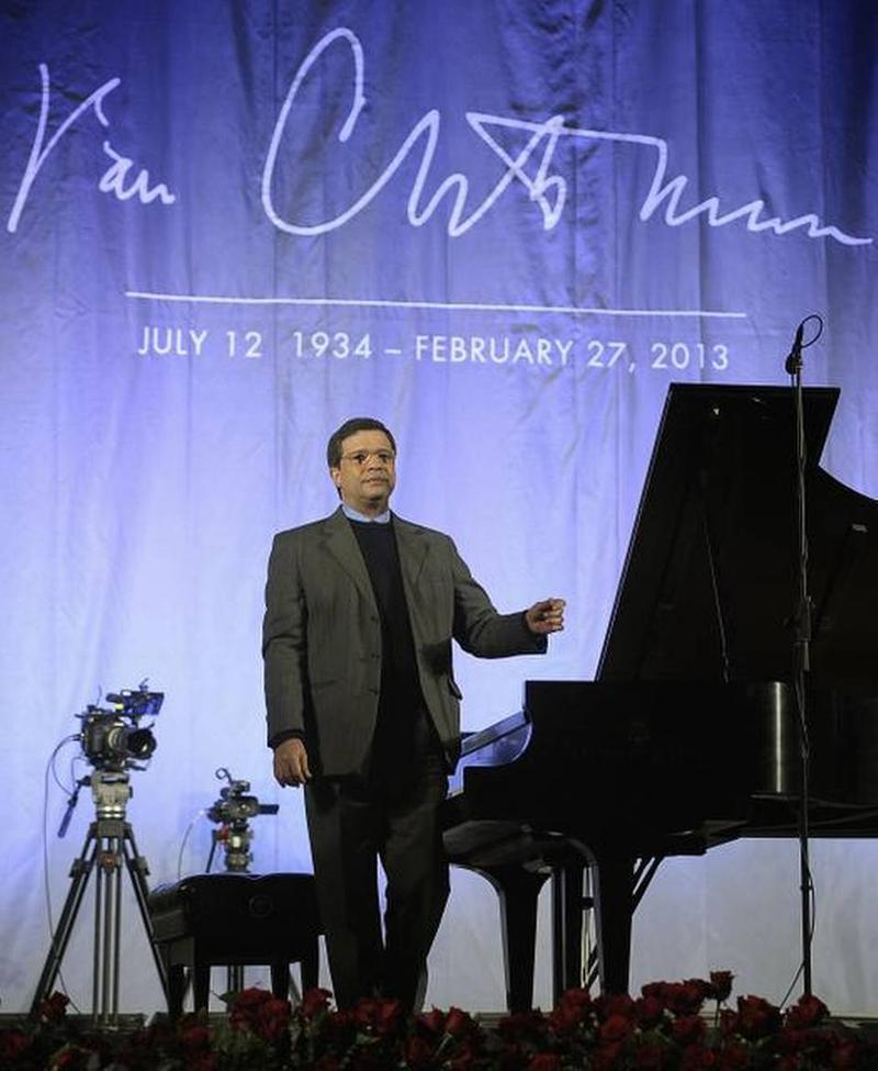 José Feghali played Van Cliburn Memorial Concert at Sundance Square Plaza in Fort Worth in February.