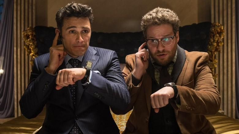 "Sony had canceled the release of ""The Interview"" after theaters were threatened. Now some are going to show the movie Christmas Day. The movie features James Franco, left, and Seth Rogen."