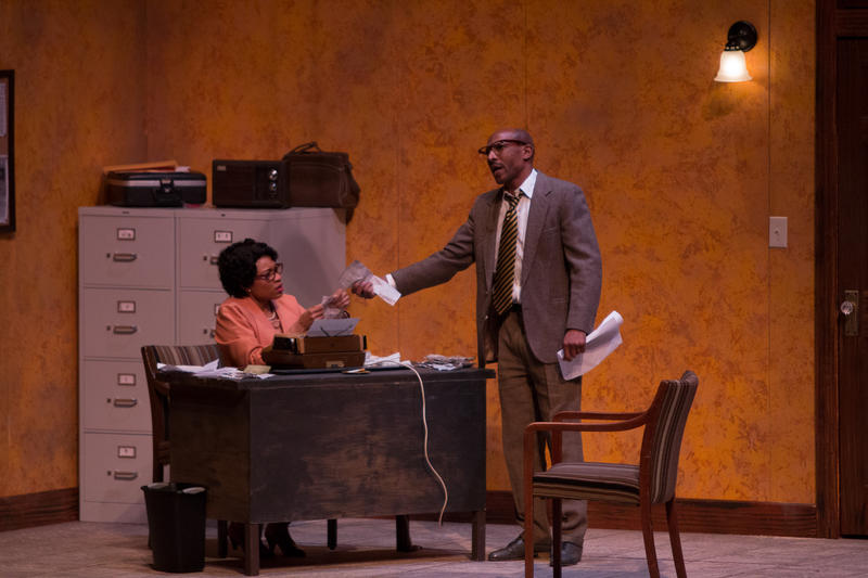 'The 67th Book Of The Bible' drew a sold-out crowd to Dallas City Performance Hall last night. Kenneisha Thompson portrayed SCLC worker Willie Pearl and Vontress Mitchell portrayed her boss,  Wyatt Tee Walker.
