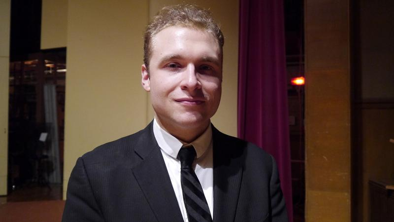 Adam Golka performed Schumann's Des Abends and Brahms' Ballade in B Major during a memorial concert for the late José Feghali.