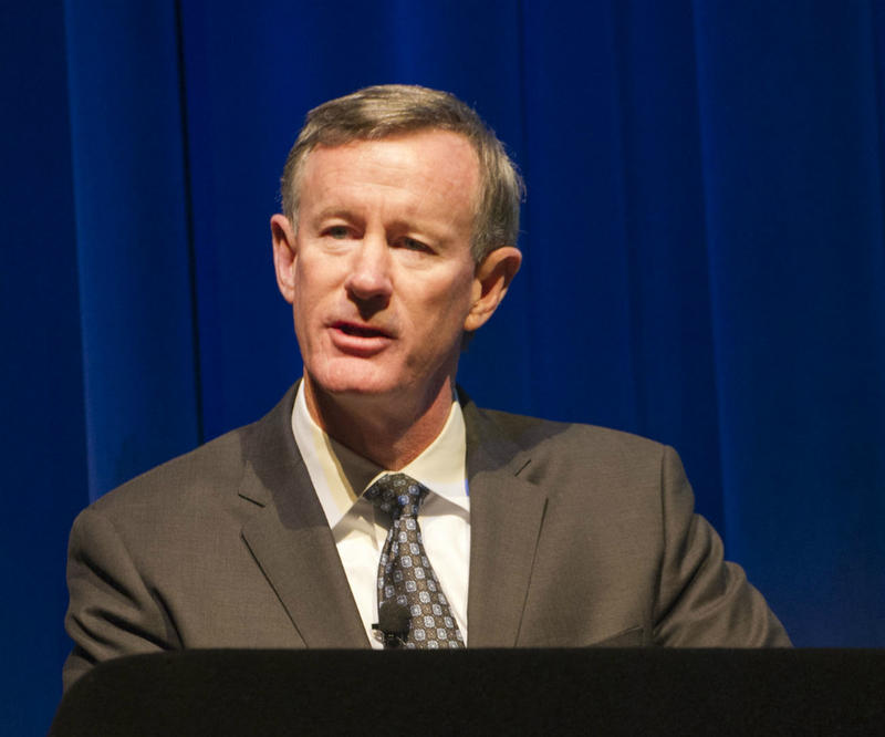 William McRaven is the new chancellor of the University of Texas system. He used to lead the U.S. Special Operations Command.