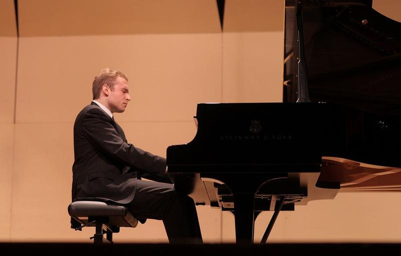 Award-winning pianist Adam Golka played pieces by Robert Schumann and Johannes Brahms to pay tribute to his teacher, Jose Feghali.