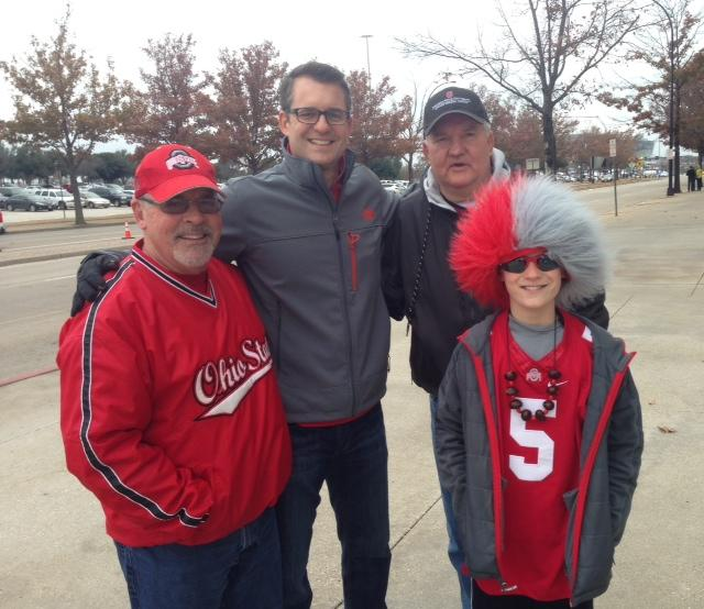 Jack Like, age 11, and his family drove to Texas from Ohio for the game.