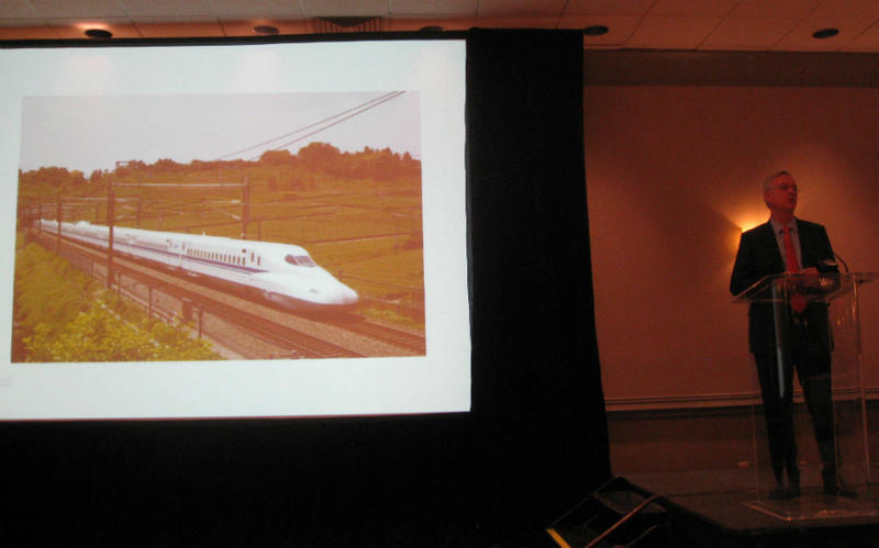 Texas Central Rail's CEO Robert Eckels updated rail executives about the proposed Dallas to Houston high-speed rail line his company plans to build -- and fund privately.