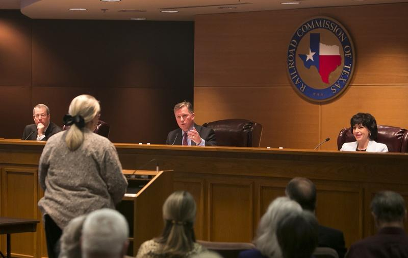 Lynda Stokes, the mayor of Reno, Texas, testified before the Texas Railroad Commission on Jan. 21, 2014, about her concerns with an increased number of earthquakes in the Azle/Reno area northwest of Fort Worth.