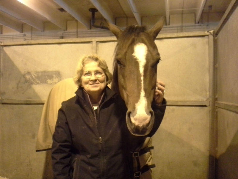 Martha Jo Soule with her quarter horse Cash at the Fort Worth Stock Show.