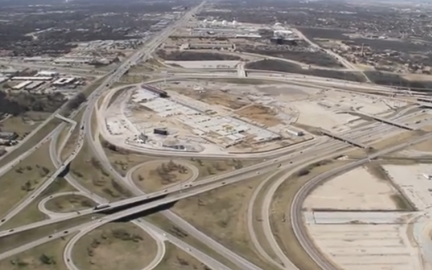 The swirl of highways in Irving is the center of Irving's earthquake zone.