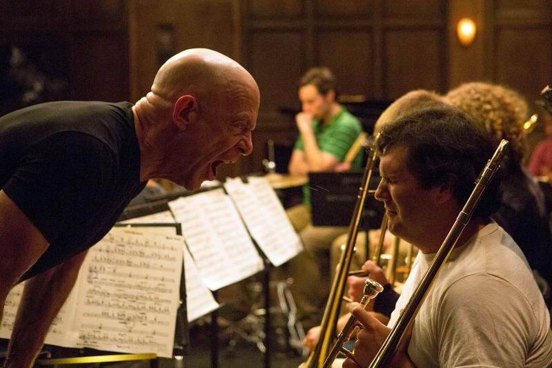 "Music instructor Terence Fletcher, played by  J.K. Simmons, literally draws blood in ""Whiplash."""