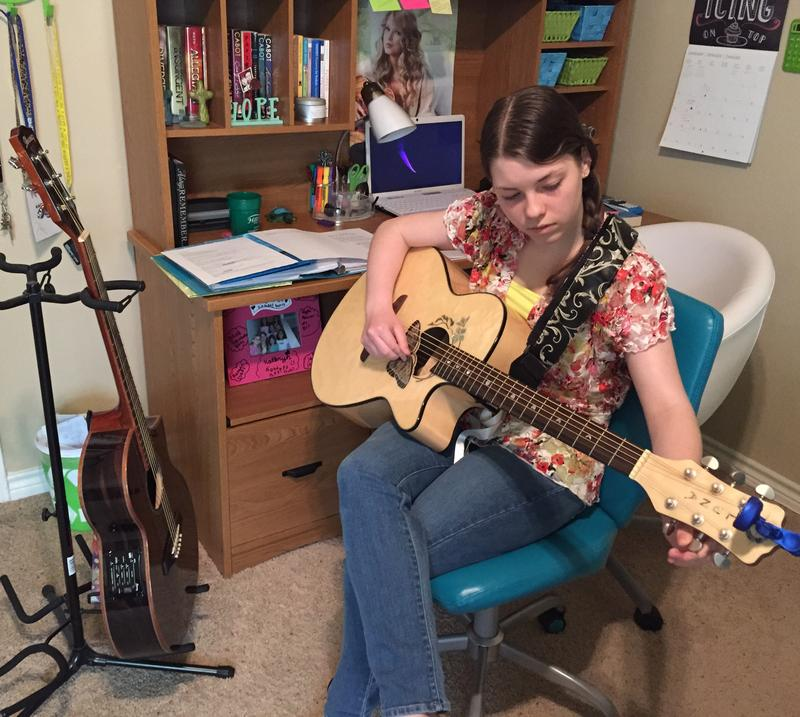 Kaitlynn Curtner's passion is music. The 15-year-old Haslet teen plays the guitar and piano and writes her own lyrics. Music also helps her cope with short-term memory loss and remember class assignments.